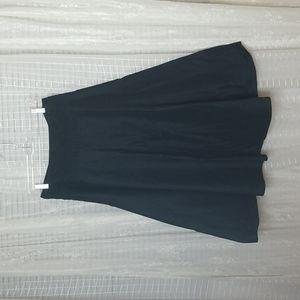 Ralph Lauren Black Circle Cotton Midi Skirt Sz6